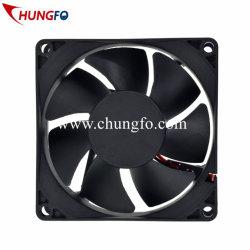 Faible bruit de ventilation d'échappement axiale CC sans balai le débit de refroidissement 8025 du ventilateur