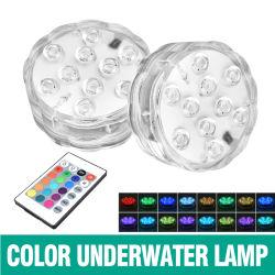 10 أضواء بيان LED لجهاز التحكم عن بعد مقاومة للماء IP68 RGB إضاءة حوض السباحة القابلة للغمر