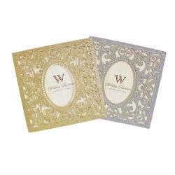 Cintilante Corte a Laser de Papel Cartão de Convite de casamento com plaqueta em branco