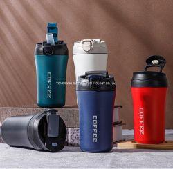 Tasse à café en gros – tasse de voyage personnalisée en acier inoxydable Thermo avec couvercle