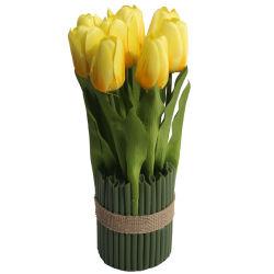 الصين موردة الحرير زهرة لمنزل الديكور بوناساي في وعاء Office Desktop Dececial Plant Flowers
