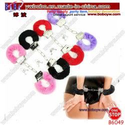 Sex Ring Ankle Cuffs Hand Restraint Toy (B6049) 높은 쪽으로 모피 Fluffy Metal Handcuffs