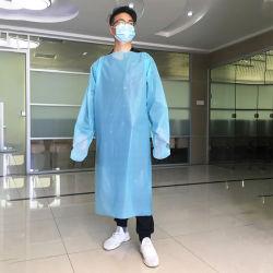Vestuário de marcação FDA descartáveis do Fardo à prova de isolamento de batas CPE