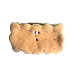 창의적인 Cute Biscuit 형태 20cm 소프트 펜 백 플러쉬 펜슬 판매 사례