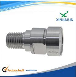 Componente de neumática, girar el adaptador de tubería hidráulica de Busing pezón fresado CNC piezas
