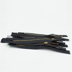 Nº 3 de alta calidad de la cremallera de metal Closed-End para prendas de vestir y calzado/bolsas/pantalones fabricante de China
