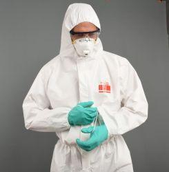 Les fournitures industrielles adaptées à l'isolement protecteur utilisé Coverall blouse de travail de la sécurité de l'isolement jetables Ppenonwoven de l'hôpital de vêtements de travail médical