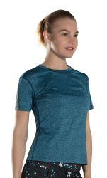 Usura di sport che addestra la maglietta sottile del tipo degli abiti sportivi di usura di forma fisica & di yoga di misura e di usura di forma fisica delle signore degli adulti