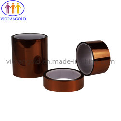 Amber High Temperature Pi Kapton Silicone Tape, Amber, Total Tinckness: 60um, Base Pi Film Thickness 25um, Silicone Adhesive, Peel Force: 500-1000g/25mm