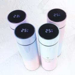 La température de LED Smart double paroi en acier inoxydable 18/8 304 L'eau potable vide bouteille isotherme Tumbler Voyage le sport 500ml 17oz Grade de gros de la FDA en stock