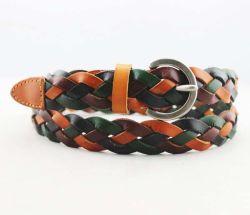 Klanten Western Colorful Genuine Leather Braided Leather Belt