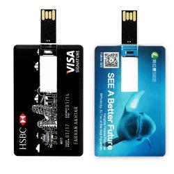Promozione regalo Business carta di credito USB Flash Drive 8GB 16GB Chiavetta USB/penna da 32 GB/memoria flash USB/penna USB