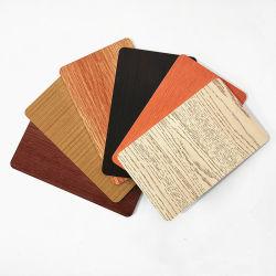 Grãos de madeira Corta a folha de alumínio para revestimento de paredes exteriores
