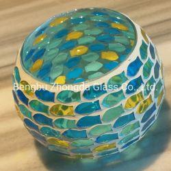 Forma redonda de color personalizado de la luz de Té Votive portavelas de vidrio decorativo para la casa