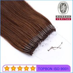 """18 """" [بروون] 6# لون مستقيمة إنسانيّة عذراء ريمي شعر إمتدادات يتيح عملّيّة سحب عقدة ميل بحري خيط سنّ اللولب شعر"""