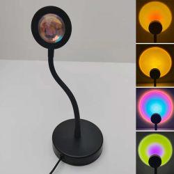 2021 новых рейсов современной фотографии красочный закат USB светильник, закат светодиодная подсветка RGB проекции напольная лампа