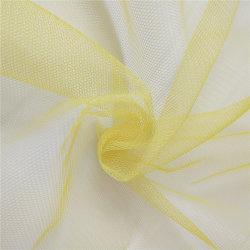 100% poliéster suave tul moda Net tejido de malla para la decoración