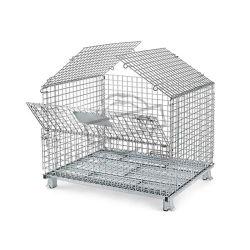 صندوق حاوية شبكة معدنية قابل للطي قابلة للصيانة من الفولاذ الصلب
