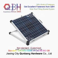 Qbh مخصص طولي الطرد ألومنيوم دليل الطرد القضيب سقف الطاقة الشمسية نظام كتيفة الإمالة كائن للطاقة الشمسية الكهروضوئية الوحدة الشمسية للوحة