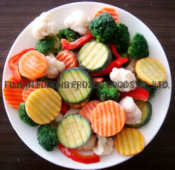 3/4/5/7/9 混合トウモロコシの緑の豆のにんじんの唐辛子の Mushroon Onion のカリフラワー ズッキーニ IQF 冷凍野菜