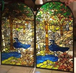Tiffany Vitrais Leadlight personalizada do painel de vidro na parede de vidro