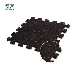 Prezzo all'ingrosso DIY Casa usato piastrelle di palestra sotto tapis roulant Fitness Tappetini in gomma con blocco interno