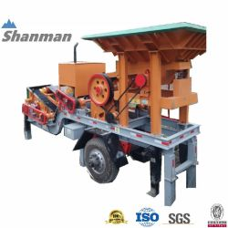 10-20tph Stein/Kiefer/Kegel/Schlag/Hammer/Gestein/Bergbau/Mineral/Mobile Crusher for Quarry/Asphalt/Granit/Kobble/Kalkstein/Erz/Zerkleinerungsmaschine/Schleifmaschine/Mühle