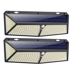 2020 Newest Super Bright 288 LED du capteur de mouvement étanches IP65 lumières solaires Outdoor 288 conduit avec chargeur