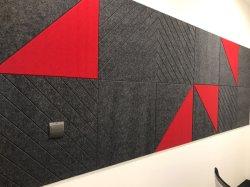 Fibra de poliéster de alta calidad ropa decorativo Panel de absorción de sonido para el panel de pared