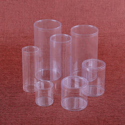 Eco-friendly embalagens de plástico claro dom redondo/jóias caixa do cilindro na caixa de PVC