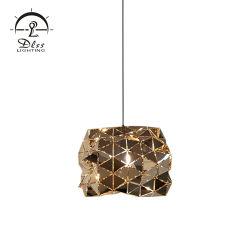 Lampade Pendant dell'oro dell'argento del mosaico dell'acciaio inossidabile del triangolo nuove