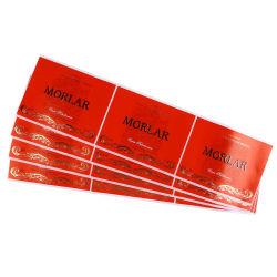 Отличное качество самоклеющиеся этикетки/ бумага с покрытием Наклейка пленки/ Красный глянцевая наклеек с логотипами