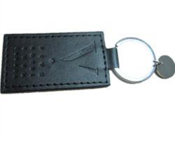 Förderung-Geschenk-lederner Schlüsselring mit Stempel-Firmenzeichen (YB-LK-12)