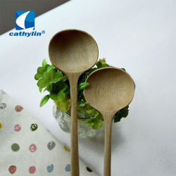 Cucchiaio di minestra di legno naturale della siviera della maniglia di alta qualità degli articoli per la tavola di Zakka del commercio all'ingrosso di legno di stile