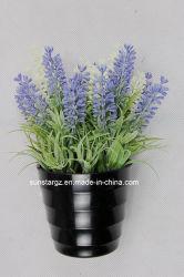 Künstlicher Pflanzenlavendel-Blumen-Plastikpotentiometer für Dekoration (47799)