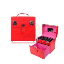 Esmalte de unha e organizador de maquiagem de viagens de jóias Caixa de cosméticos (HB-6001)