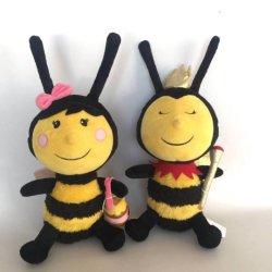 Dierlijke Speelgoed van de Bij van het Insect van de Pluche van de Jonge geitjes van de Bijenkoningin van de douane het Huidige Speelgoed Gevulde
