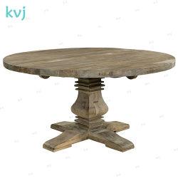 Kvj-7240 переработанной древесины Elm раунда деревенском старинной обеденный стол