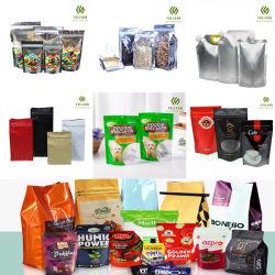 23년 플라스틱 포장용 비닐 봉지 스탠드업 파우치 체험 커피 티 캔디 애완동물 스낵 생분해성 재활용 가능 Zip-락 재사용 진공 청소기 복합 백