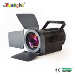 Gz Yuelight tecnologia patenteada de 2019 Novo Produto levou 300W Refletor Fresnel de vídeo de luz com o zoom para sala de reuniões Igreja Cinema Studio A estação de TV