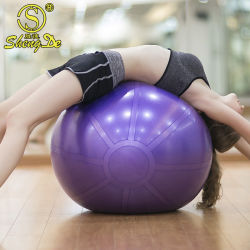 方法プライベートラベルの印刷の方法3*6*9 PVC泡のヨガの球