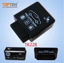 L'auto diagnostic à distance Scanner OBD II Port Canbus Tracker GPS de voiture pour consommation de carburant de données du compteur kilométrique (TK228-JU)