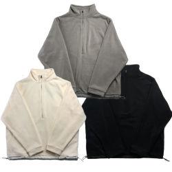 O logotipo personalizado Espolia Polar Casaco Bolso Homens Mulheres 1/4 Coletes Zip