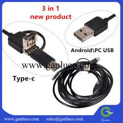 3 en 1 et Micro USB OTG Inspection Caméra d'endoscope