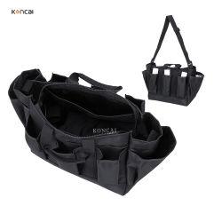 Plusieurs poches légère en nylon noir grand rangement Zipper Sac cosmétique de maquillage sac à main
