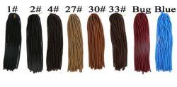 Pack de 20 brins fausse Locs tresses de cheveux synthétiques Faux tressage Dreadlocs Hair Extensions Soft Dread verrouille 20pouces 100g