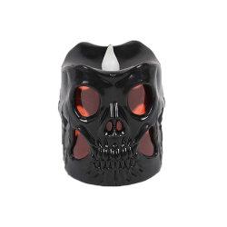 Светодиод черепа при свечах на Хэллоуин Рождество бар оформление