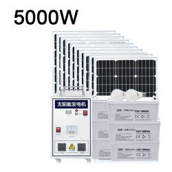 pannello solare da 5kw Home energia solare collegata a rete da 5kw Sistema 800W 1000W 1500 W 2500 W 4.000 W 5.000 W energia solare Sistema