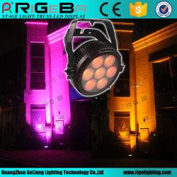 전문가용 신형 디자인 실외 면도기 P7 7개의 LED 25W 고전력 RGBWA 5in1 방수 LED PAR CAN 조명