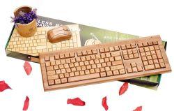 Tastiere e mouse di calcolatore di bambù